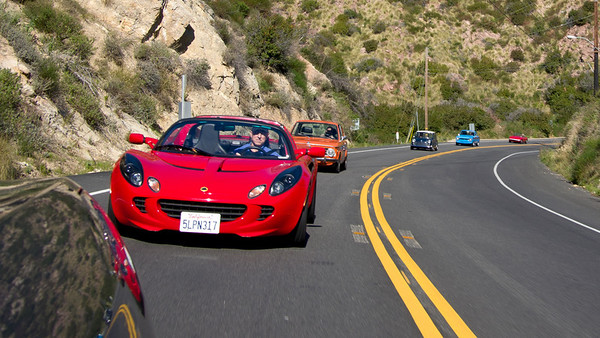 Dave follows me in his Lotus, then it's Marcelo, John, Robert and Ken.